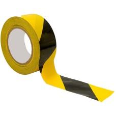 Лента разметочная чёрно-желтая 50мм х 25 м