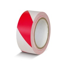 Сигнальная лента для ограждений Klebebander бело-красная 50х200м