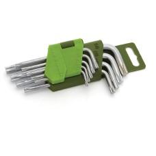 Набор ключей TORX 9 шт. коротких Т10-Т50 Дело Техники