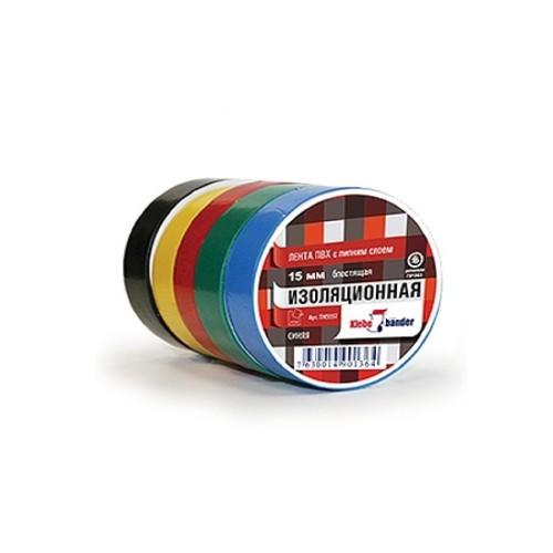 Изолента ПВХ 15х10 черная Klebebander
