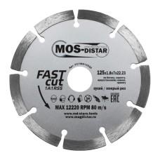 Круг алмазный сегментный MOS-DISTAR 125х1,8х7х22,23 Быстрый рез