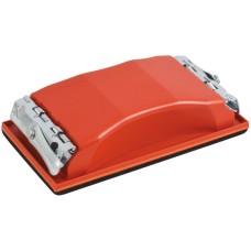 Держалка для наждачной бумаги с металл.прижимом, красная 160 х 85 мм FIT