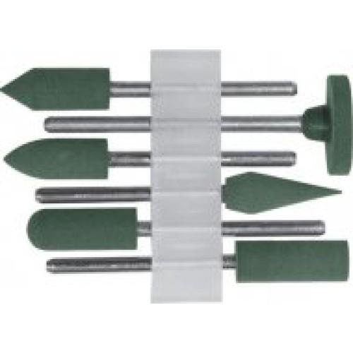 Насадки резиновые полировальные , мелкой зернистости , набор 6 шт.