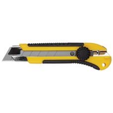Нож технический 25 мм усиленный с вращ. прижимом