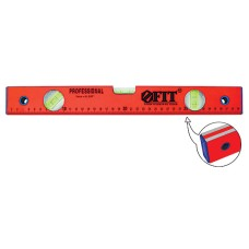 Уровень 3 глазка/линейка красный, фрезерованная грань, 400 мм