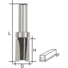 Фреза кромочная прямая с верхним подшипником, DxHxL = 19х25х66 мм