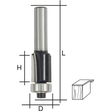 Фреза кромочная прямая, DxHxL = 8х20х68 мм