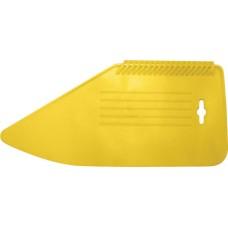 Шпатель прижимной, для разглаживания обоев, пластиковый, желтый 280 мм