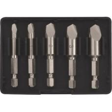 Экстракторы для болтов и шпилек усиленные, набор 5 шт