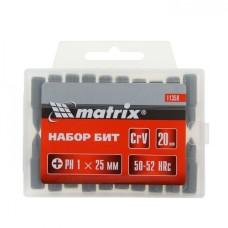 Бита Ph1 x 25 мм, сталь 45Х, в пласт. боксе MATRIX цена 1шт.