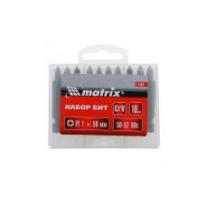 Бита Pz1 x 50 мм, сталь 45Х, в пласт. боксе MATRIX цена 1 шт.